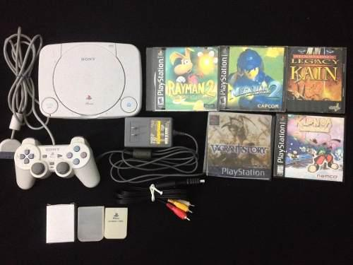 Playstation 1 Slim + 4 Juegos Originales // Lea Descripción 0