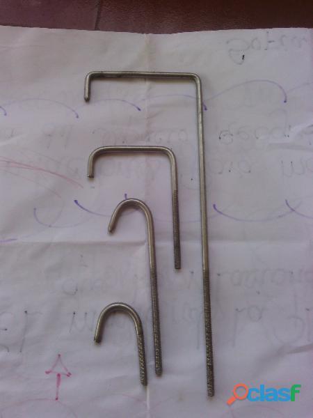 fabricacion de ganchos de acero inoxidable de todas las medidas 0