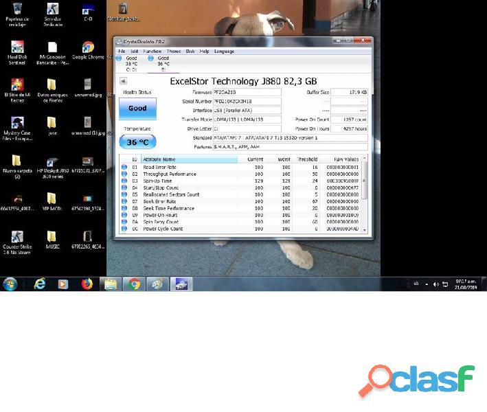DISCO DURO IDE EXCELTOR J8080 DE 80GB 7200RPM AL 100% ESCANEADO 9