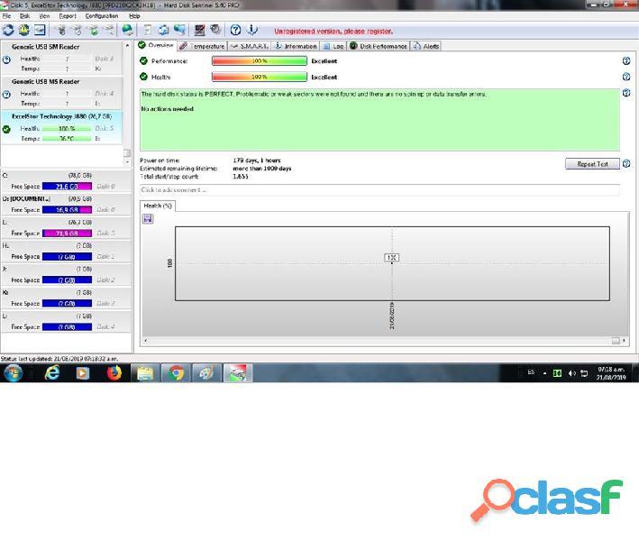 DISCO DURO IDE EXCELTOR J8080 DE 80GB 7200RPM AL 100% ESCANEADO 8