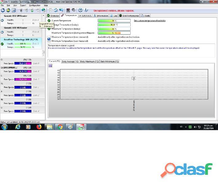 DISCO DURO IDE EXCELTOR J8080 DE 80GB 7200RPM AL 100% ESCANEADO 7