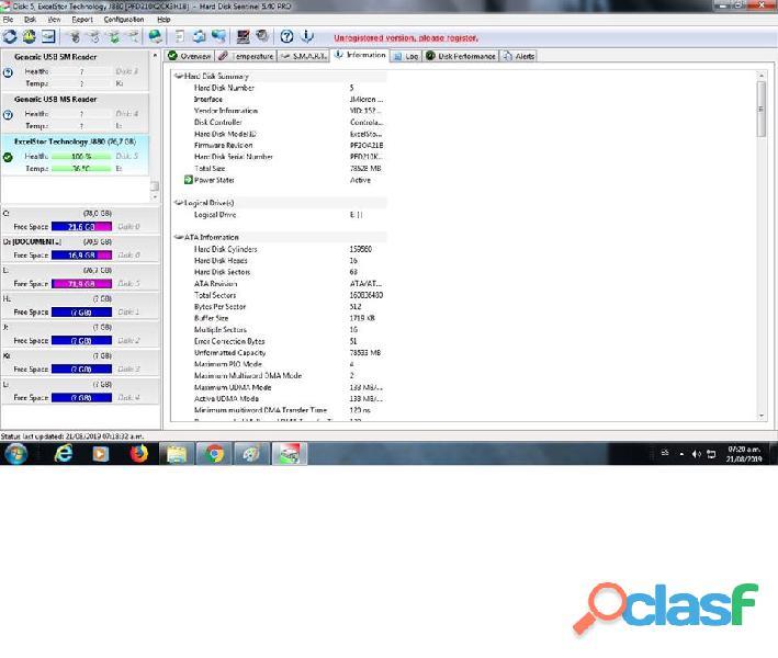 DISCO DURO IDE EXCELTOR J8080 DE 80GB 7200RPM AL 100% ESCANEADO 6