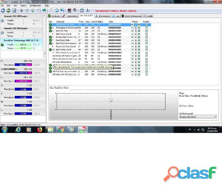 DISCO DURO IDE EXCELTOR J8080 DE 80GB 7200RPM AL 100% ESCANEADO 5