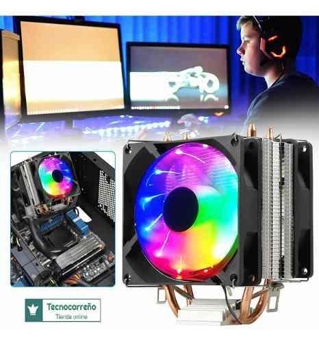 Fan Cooler Para Procesador Cpu Amd Intel Gaming 0