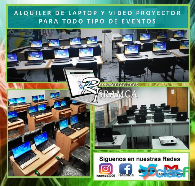 ALQUILER DE LAPTOP Y VIDEO PROYECTOR 4