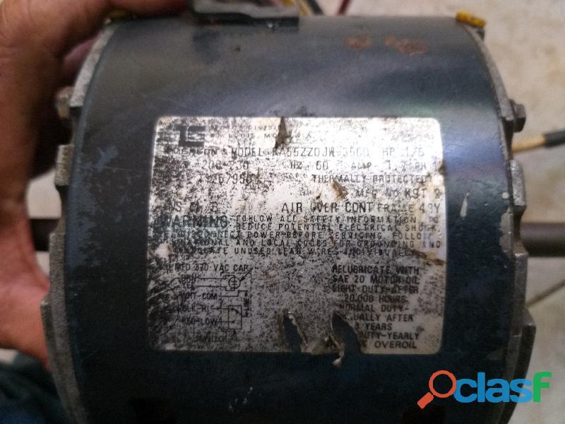Motor ventilador doble eje 220 VAC para A/A 1