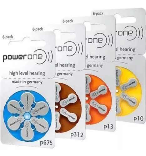Pilas Auditivas P10 P312 P13 P675 Power One Blister De 6 0