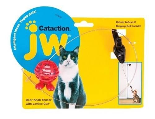 Petmate Jw Juguete P Gatos Cataction Pelota Plumas Y Campana 0
