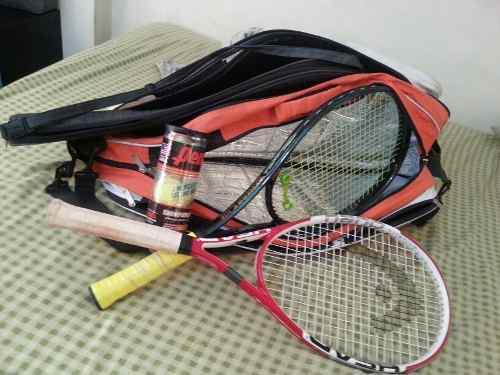 Juego De (2) Raquetas Tripack Wilson Con Estuche 0