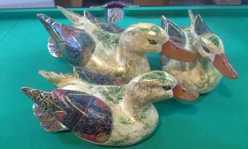 Patos Mandarines Madera Artesania Indonesia 0