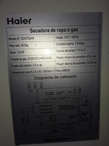 Secadora A Gas Heiar Usada Poco Uso 0