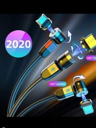 Cables Usb Magnético Modelo (2020) 3 En 1 Carga Rapida 3 0