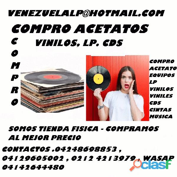 COMPRO, DISCOS , VINILOS , EQUIPOS DE SONIDOS , CDS