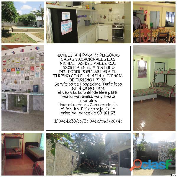 CASA VACACIONAL EN LOS CANALES DE RIO CHICO PARA 10 15 20 25 PERSONAS 3