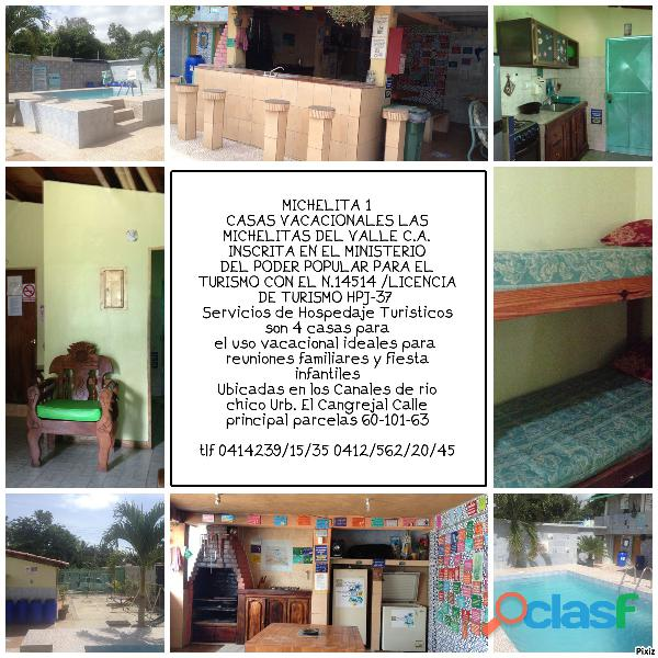 CASA VACACIONAL EN LOS CANALES DE RIO CHICO PARA 10 15 20 25 PERSONAS 2