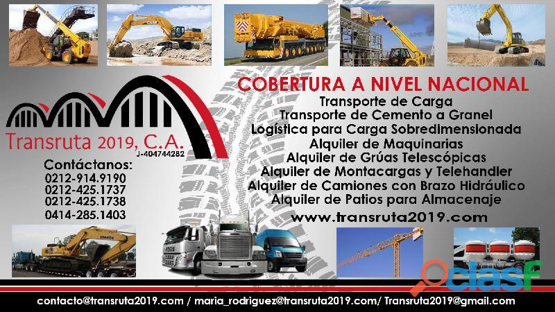 Transruta 2019, C.A Transporte y Logística de Carga Sobredimensionada