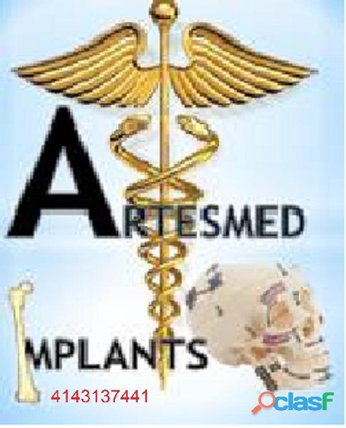 Venta de implantes medicos de traumatologia, neurocirugia, maxilofacial, cirugia de mano y pie