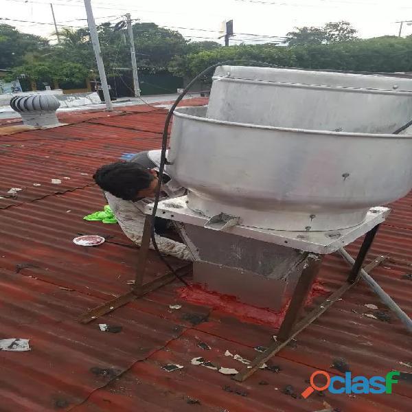 Sistemas de extraccion de calor, humo y grasa. limpieza, mantenimiento y reparacion
