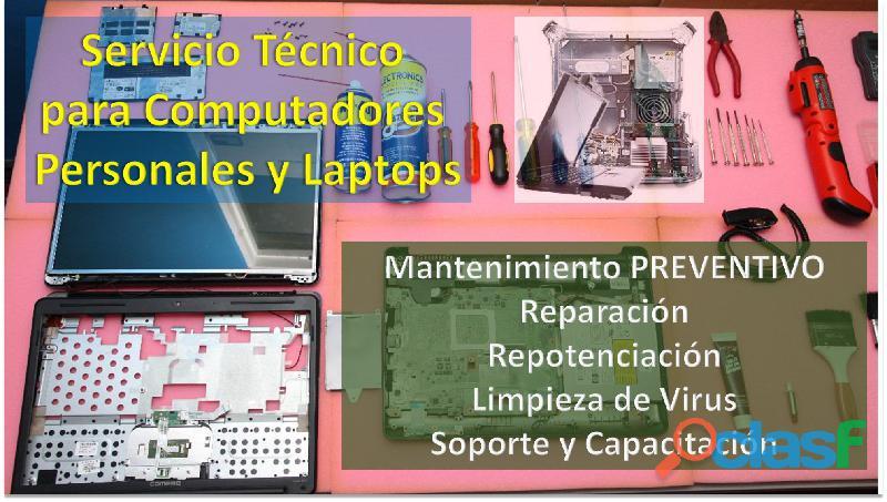 Servicio técnico a computadores personales pc / laptop