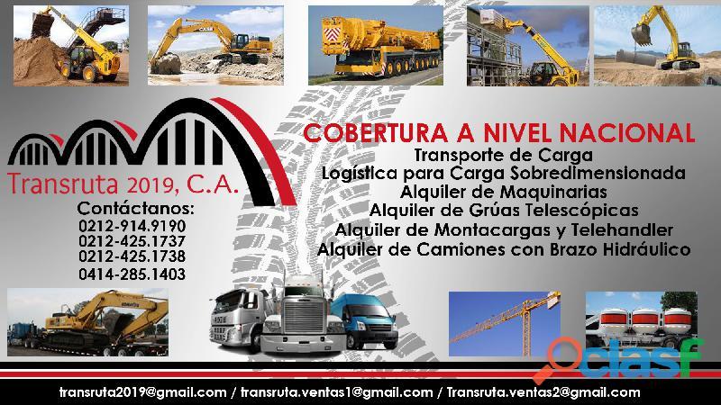 Logistica y alquiler camiones con brazo hidráulico