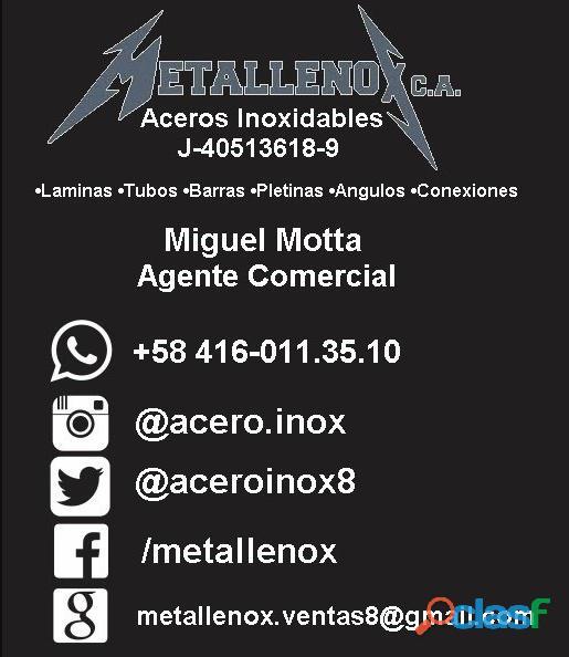Metallenox c.a. 04160113510 miguel mota acero inoxidable laminas tubos barras pletinas