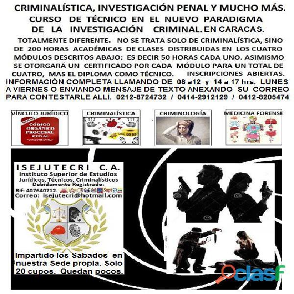 Curso técnico investigación criminal