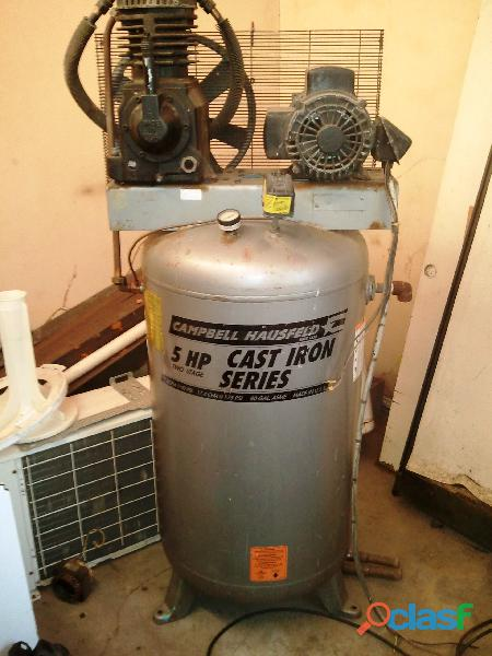 Compresor vertical campbell hausfeld 5 hp 80 galones