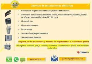 Servicio de contratista eléctrico suministro e