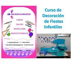 Curso de decoracion de fiestas infantiles