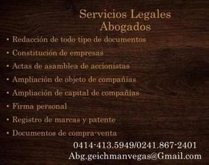 Abogado servicios legales constitución de empresas registro