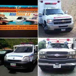 Servicios de ambulancia eventos obras traslados y otros