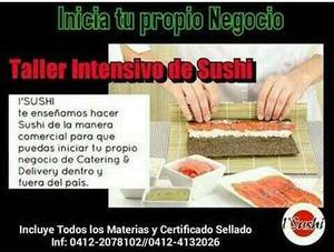 Talleres de sushi programados y a domicilio
