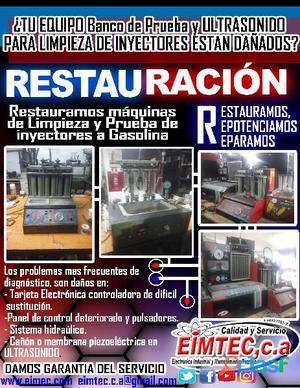 Restauracion y reparacion equipos limpiza de inyectores
