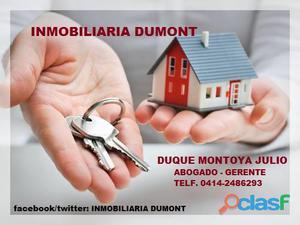 Inmobiliaria dumont por si desea vender su casa,apartamento u otro bien inmueble.