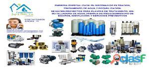 Ventas, instalacion, mantenimiento de sistemas purificadores de agua