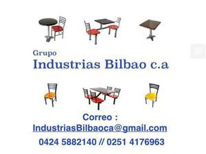 Sillas, mesas, comedores industriales, restaurantes,