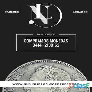Compramos Monedas Antiguas de Oro y Plata. Joyas 18 Kilates Numislibros