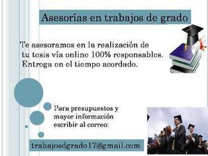 Asesoria en trabajo especial de grado, diapositivas y más..