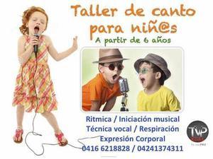 Taller de canto para niños