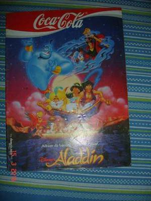 Album de barajitas colección aladdin de cocacola incompleto