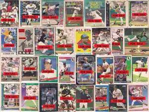 Barajitas besibol grandes ligas. estampillas. baseball cards