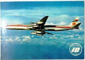 Coleccionable postal avión iberia jet douglas super dc