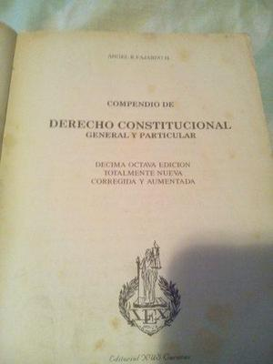 Compendio de derecho constitucional genial y particular