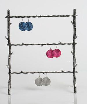 Exhibidor tonnos tipo rejilla de metal para zarcillos