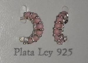 e6c861cad819 Zarcillos argolla coral de lujo plata 925 para bebes y