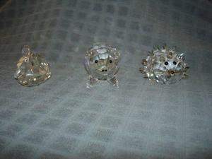 3 figuras de cristal de swarovski original