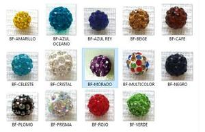 36a215a9b230 Bola de fuego   bola cristal   shamballa material bisuteria en ...
