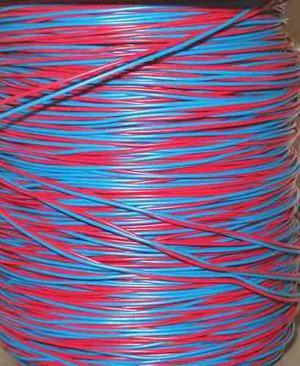 Cable jumper telefonico rojo-azul por metro
