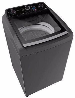Lavadora automatica whirlpool carga superior 16 kg gris