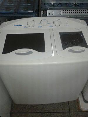 Lavadora doble tina marca hyundai de 10kg nueva somos tienda